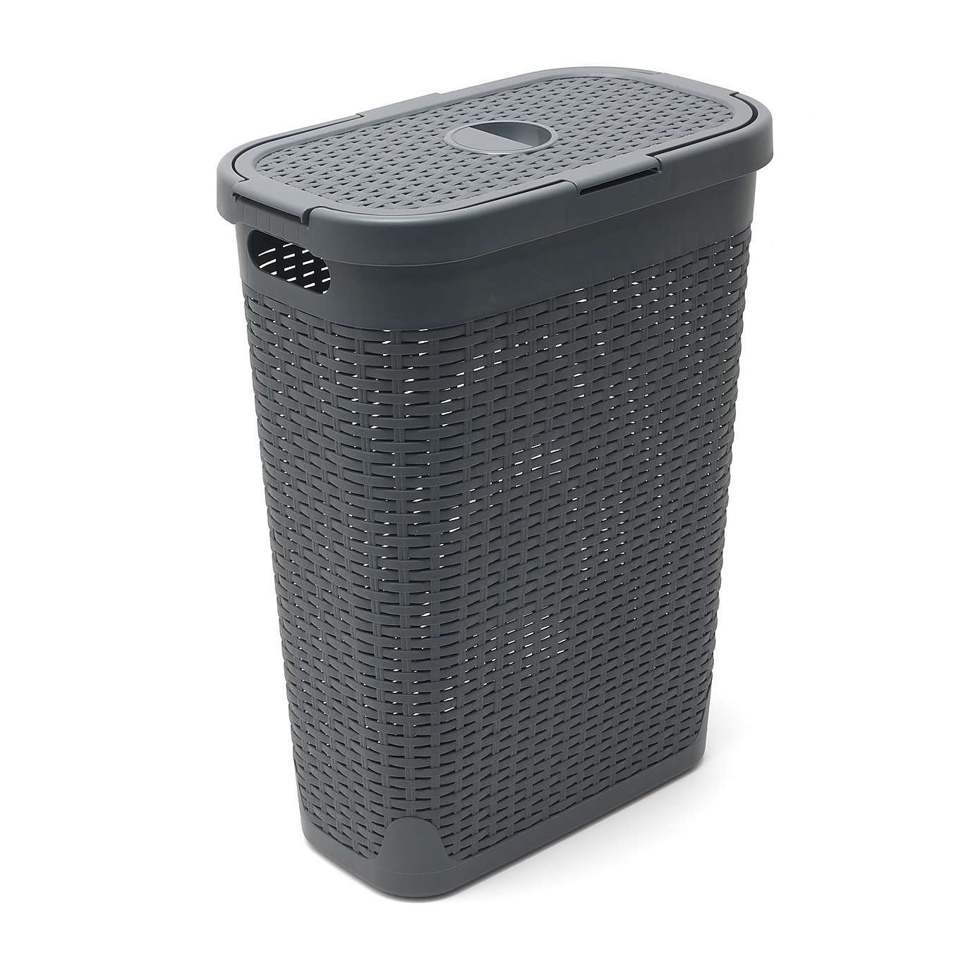 Addis Slim 40l Charcoal Laundry Basket Grey Laundry Basket