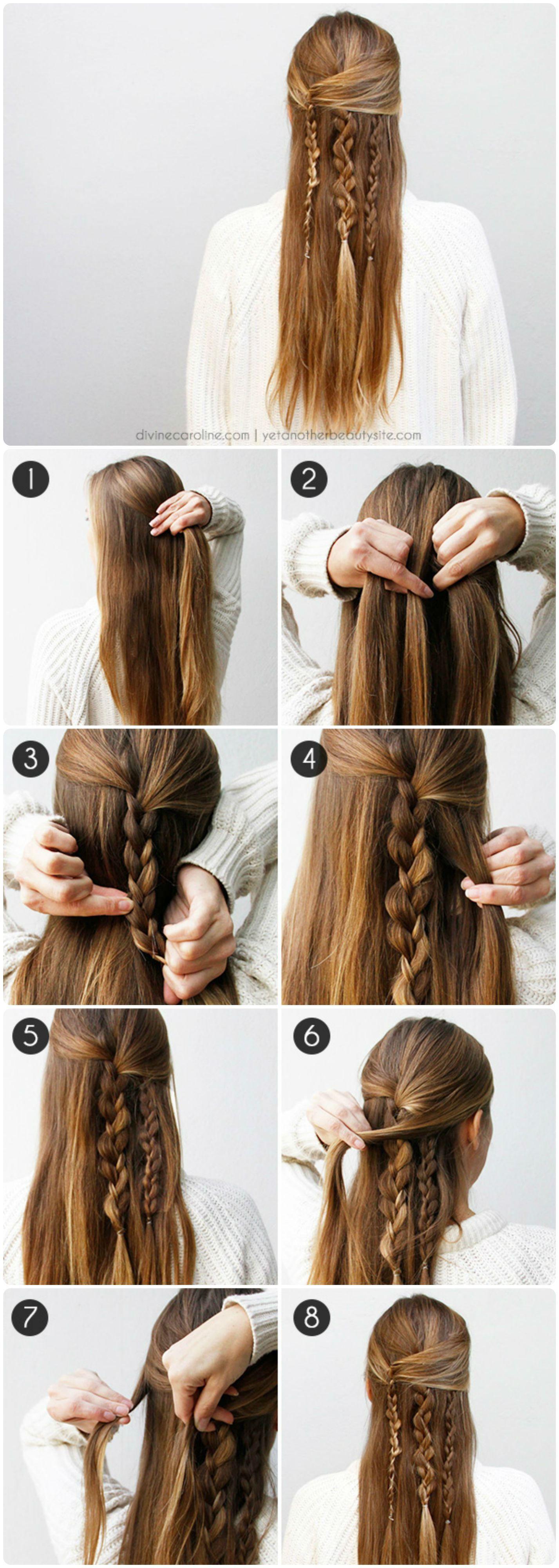 Cómo hacer peinados semirecogidos hermosos hair style hippie