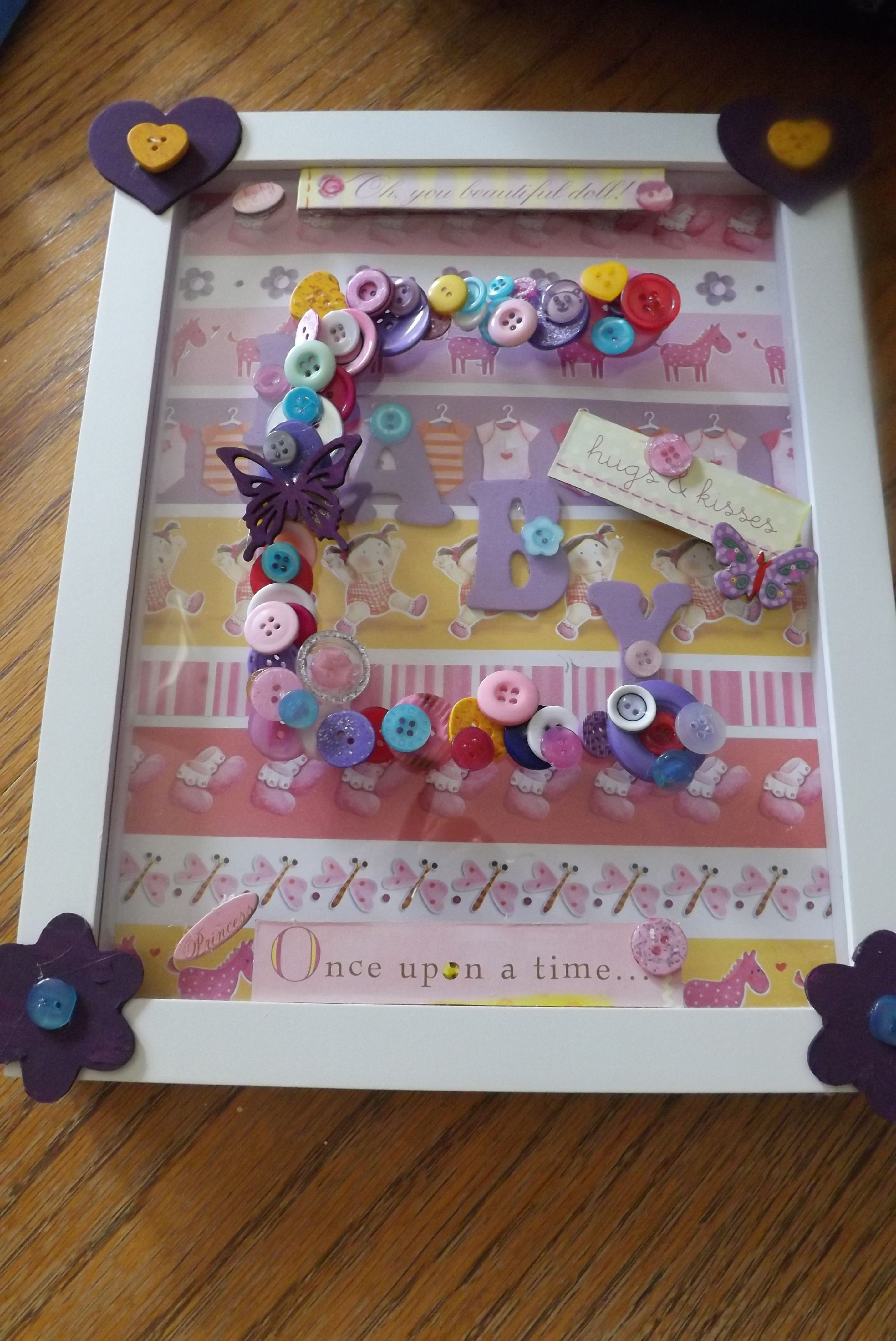 Homemade decorated frame for baby room Arts & Crafts