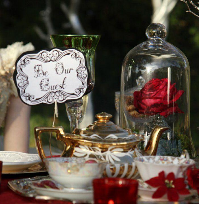 Anniversaire, mariage, déco à la maison, quoique l\u0027occasion la décoration  au thème de la Belle et la Bête Disney est toujours magnifique. Vous allez  trouver