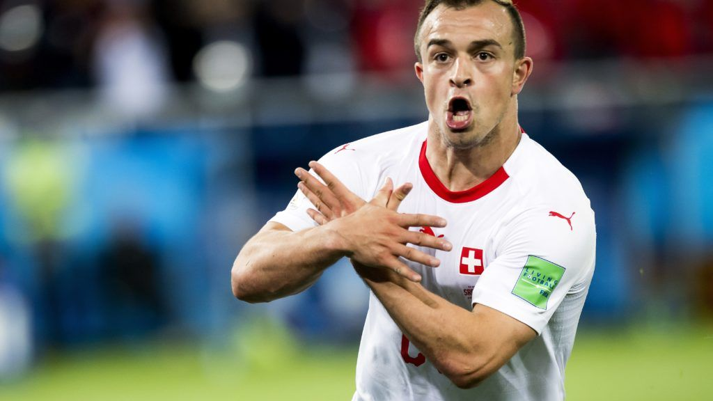 Xherdan Shaqiri Scores Late Winner As Switzerland Stun Serbia Fifa Germany Football World Cup