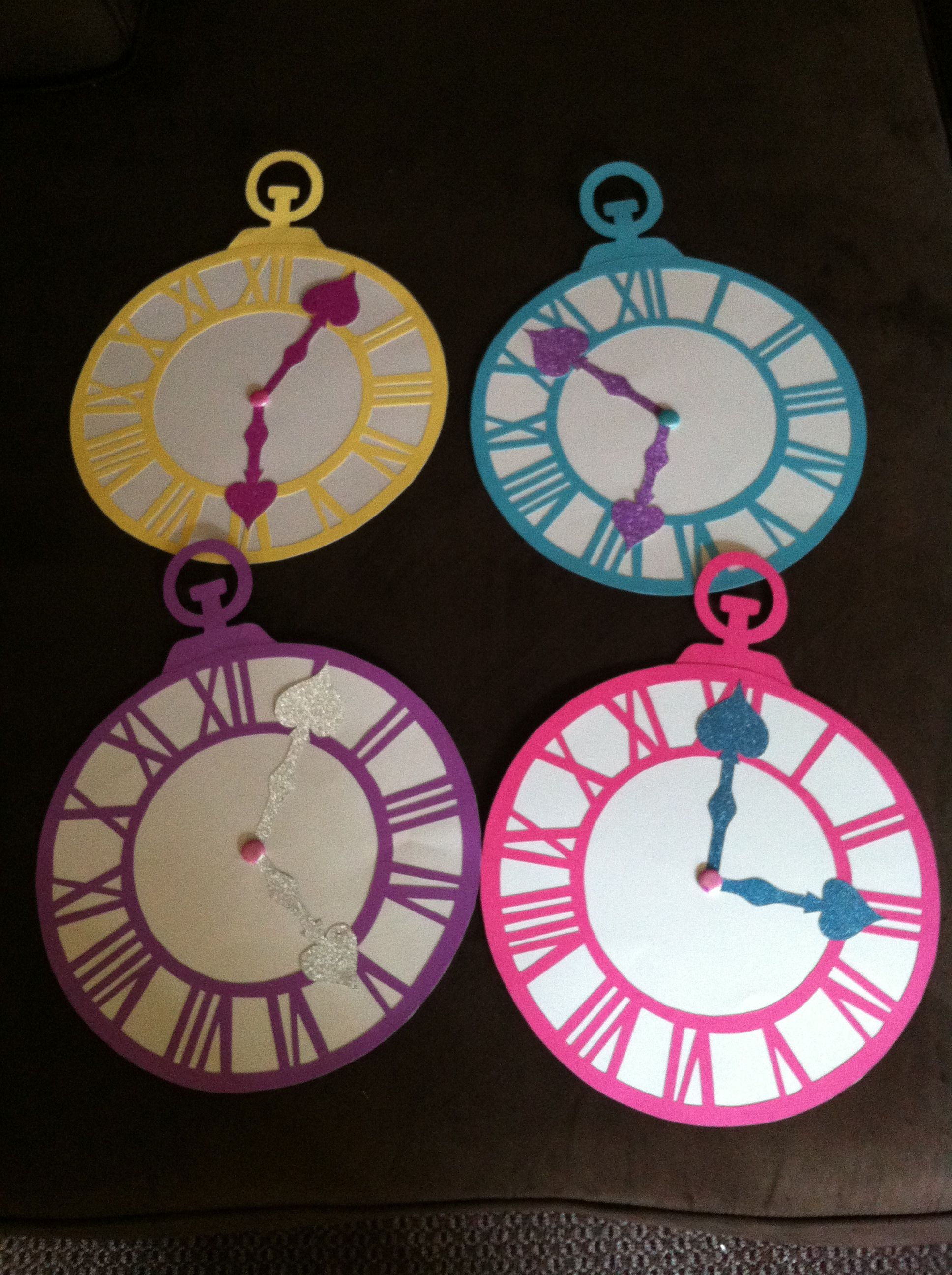 Alice In Wonderland Party Clock Decor Pais De Las Maravillas