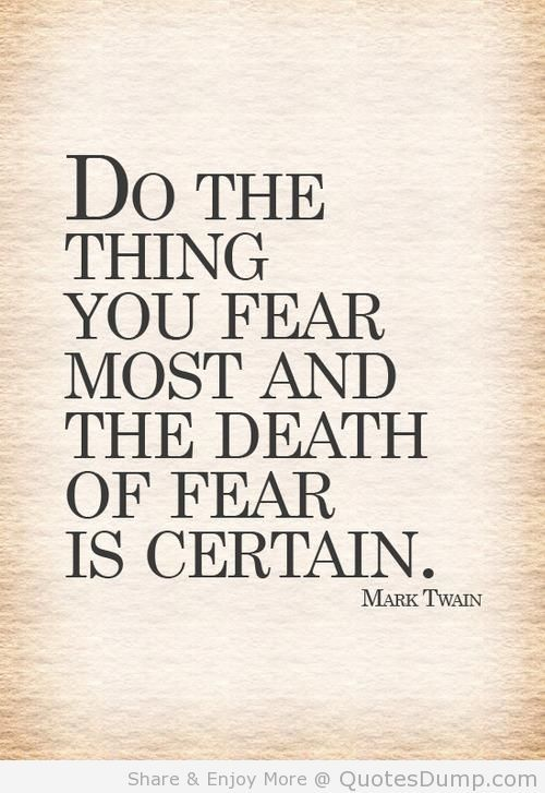 10 Encouraging Fear Quotes To Take On The New Year I Think