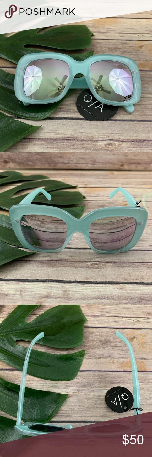 72a4d1816b5 Quay Australia mint green square frame sunglasses Quay Australia  day after  day  mint green