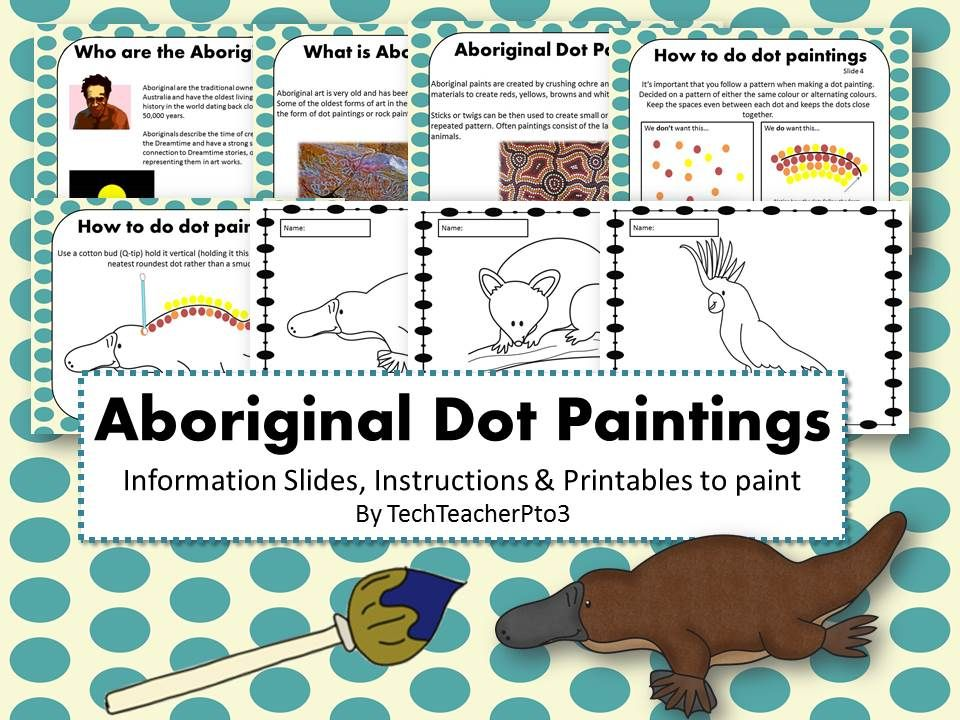 Aboriginal Dot Painting Activity  Aboriginal Dot Painting
