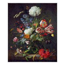 """Jan Davidsz de Heem """"Flower Vase"""" Poster"""