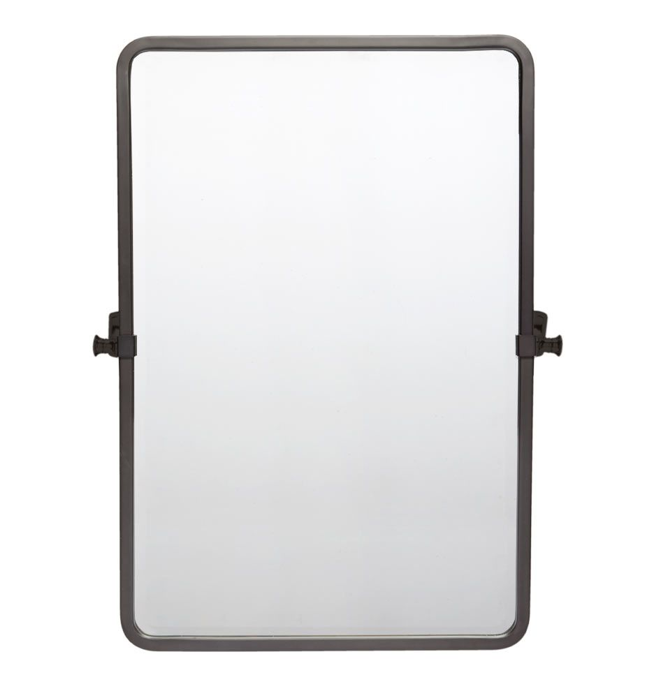 Bingham Rounded Rectangle Pivot Mirror Oil Rubbed Bronze Bath And Upstairs Bathrooms