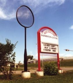 Largest Badminton Racket Ever In The World St Albert Canada Tour Western Canada