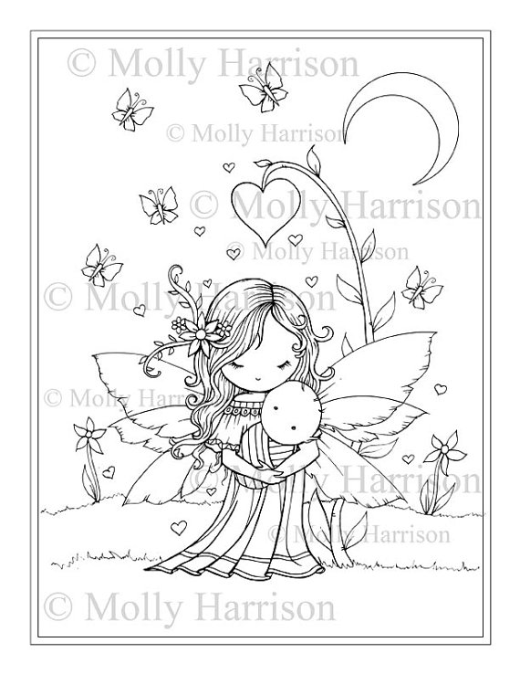 Sweet Mama and Baby - Printable Coloring Page - Mother and Baby ...