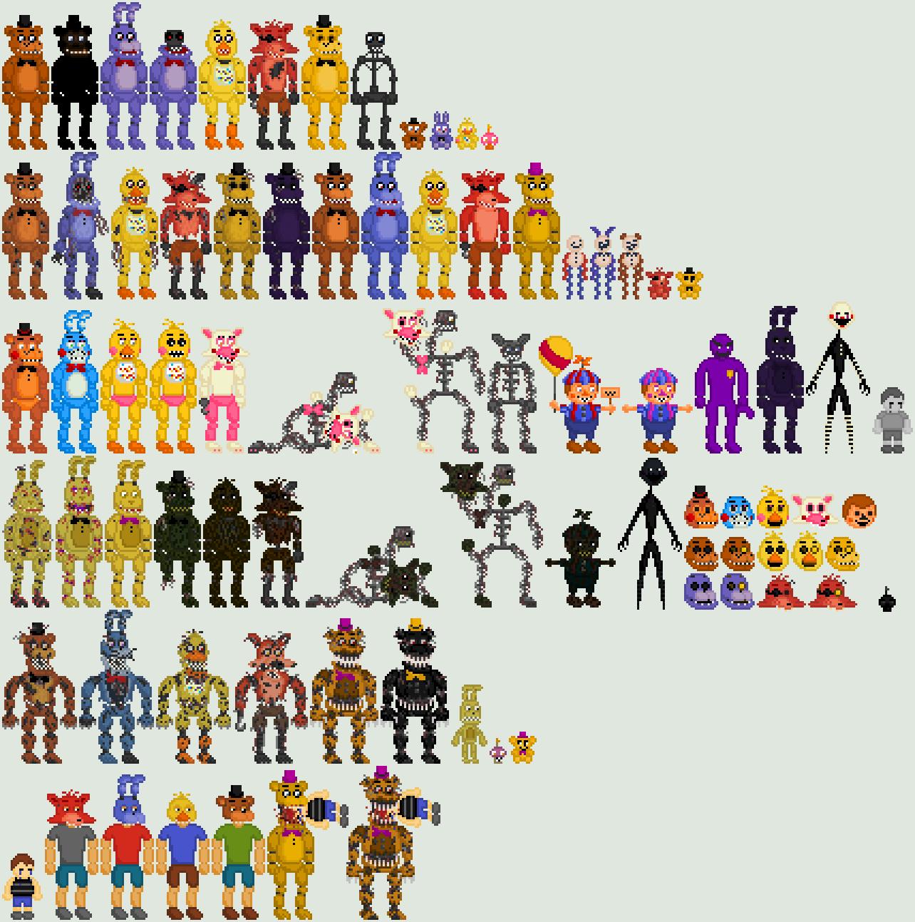 Five Nights at Freddy's Pixel Art by Shaddow24 on DeviantArt ...