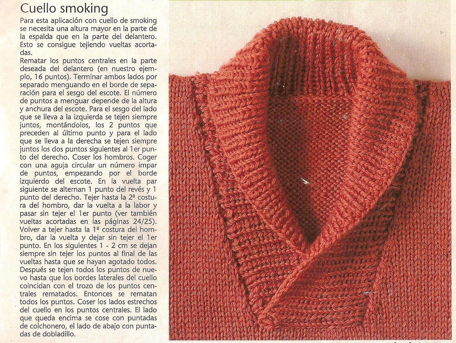 Mis Creaciones: explicación para hacer el cuello smoking.