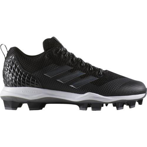 adidas Men's PowerAlley 5 Baseball Shoe, Black, Size 13.0