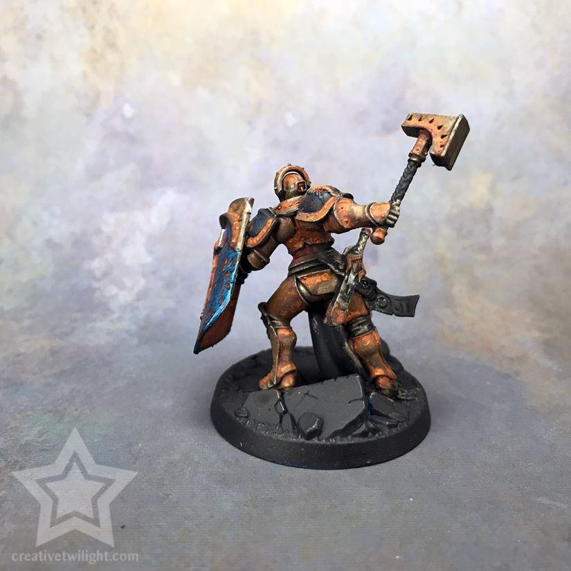 How To Paint A Realistic Rust Effect For Miniatures Tutorial With Images Miniatures Tutorials Miniatures Painting