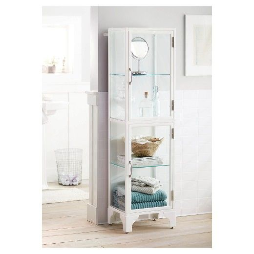 Apothecary Large Linen Tower White   Threshold™ : Target. Bathroom  FurnitureFurniture ...