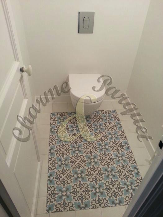 Carrelage imitation carreaux de ciment point p bathroom - Carrelage imitation parquet point p ...