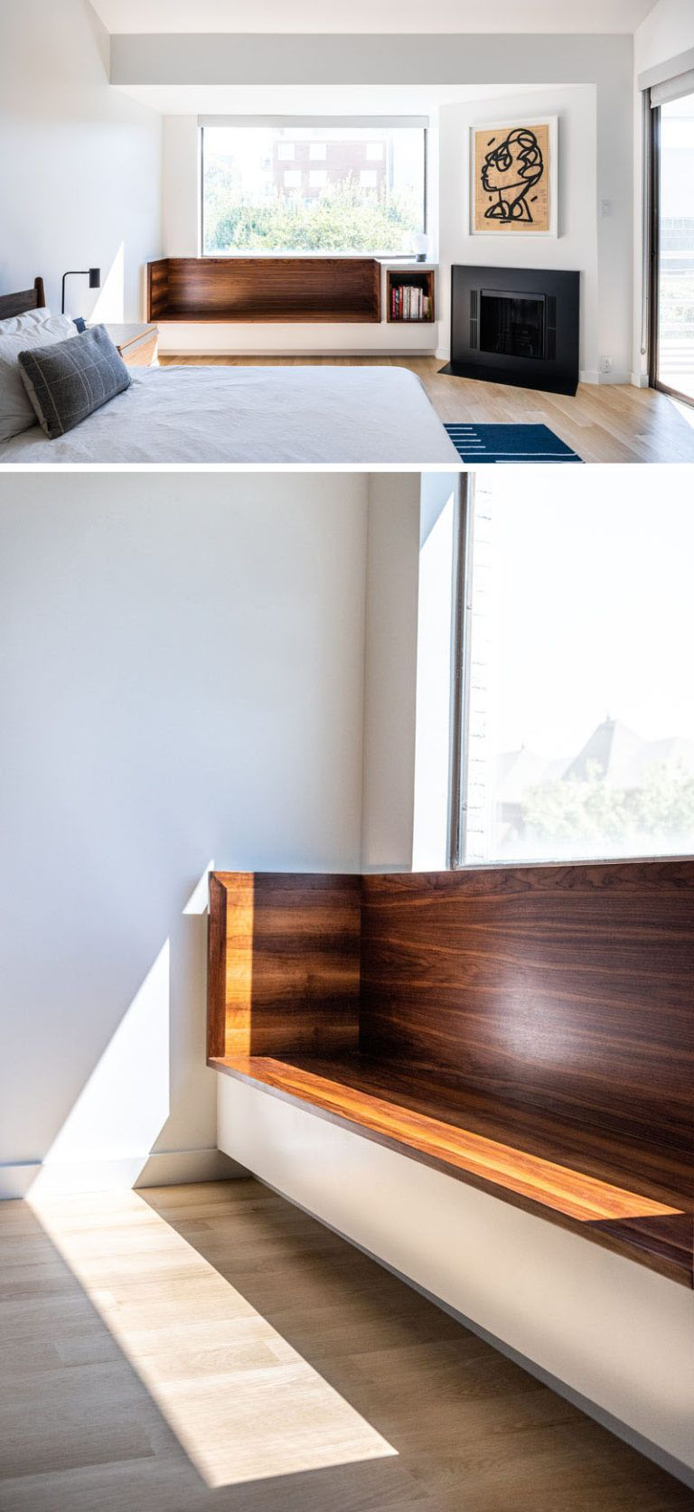 Design Detail A Built In Window Seat With Shelving Was Added To