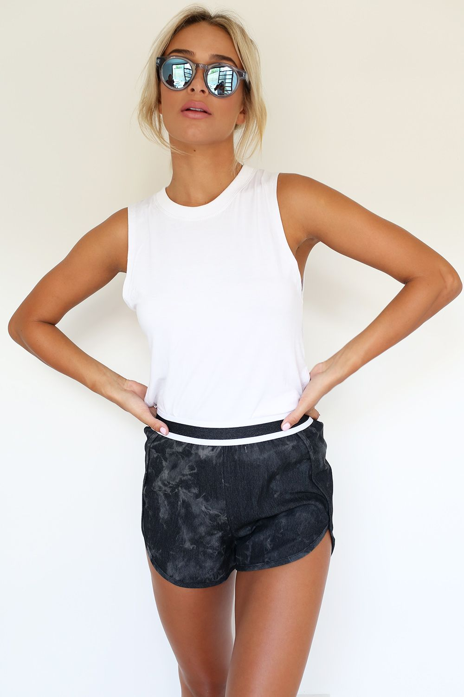 Dusted Shorts - Black | SABO SKIRT
