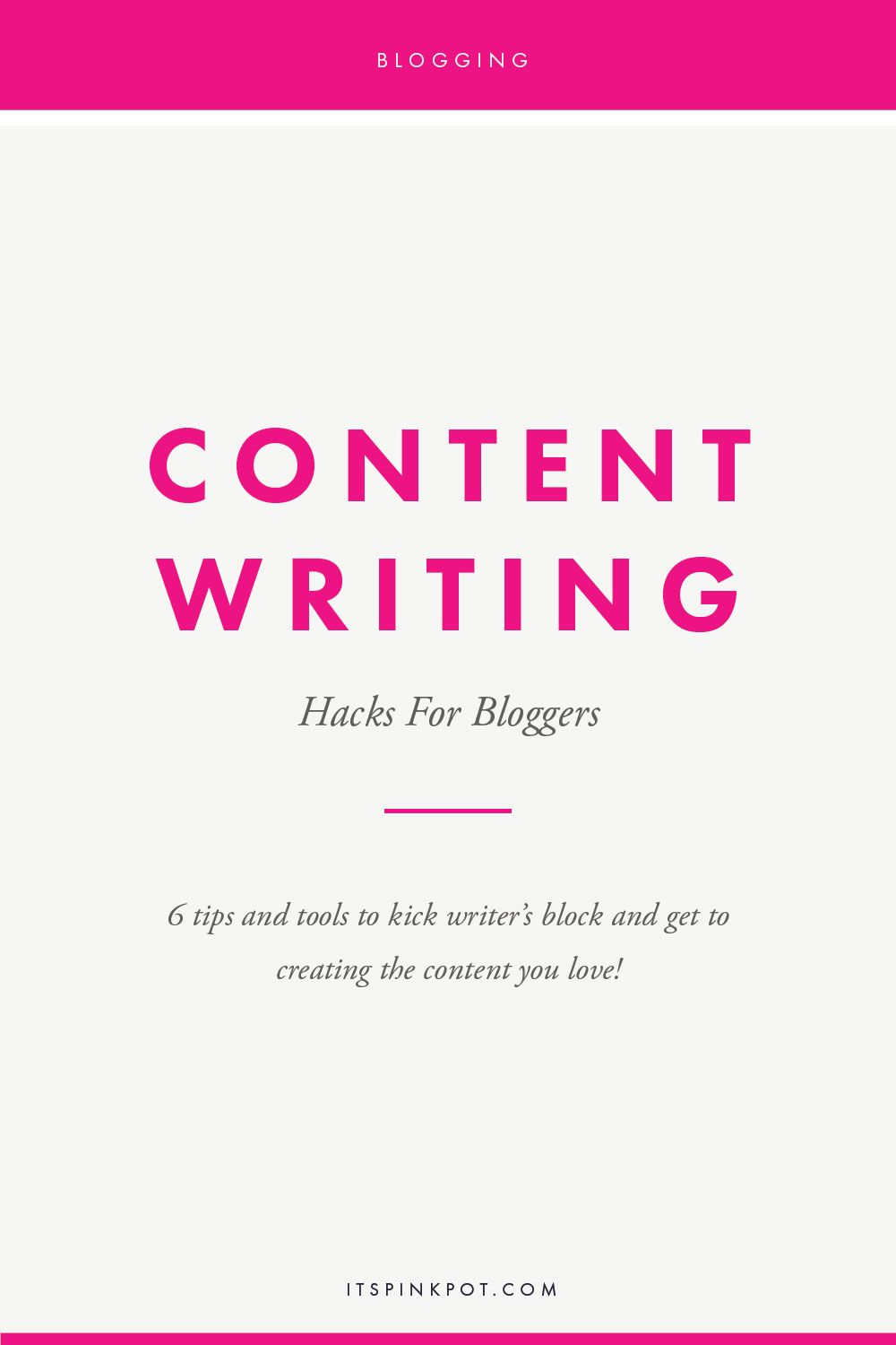 Content for blogs