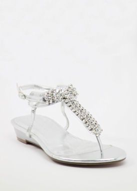 b4a59f36c052 Silver Prom shoes with flat heels (Style 800-12)