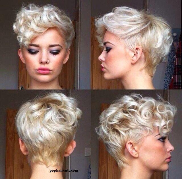 Les Cheveux Courts Avec Des Jolies Boucles Un Charme
