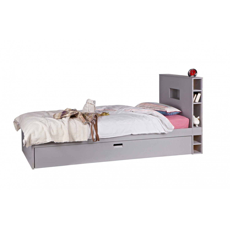 Vtwonen Jugendbett Store 90x200 Kiefer Grau Mit Bildern Bett Betten Fur Kinder Jugendbett