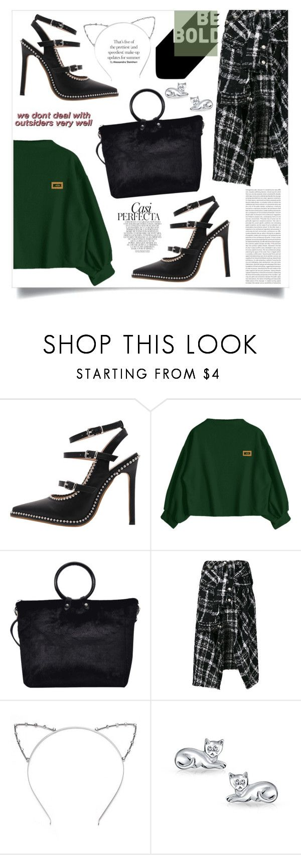 """""""The One Desire"""" by violet-peach ❤ liked on Polyvore featuring Faith Connexion, Bling Jewelry, Whiteley, StreetStyle, beautiful, Great, modeloffduty and felinefashion"""