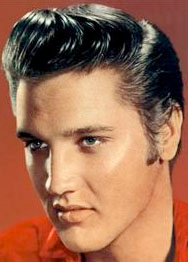 Elvis sure knew how to style his hair!
