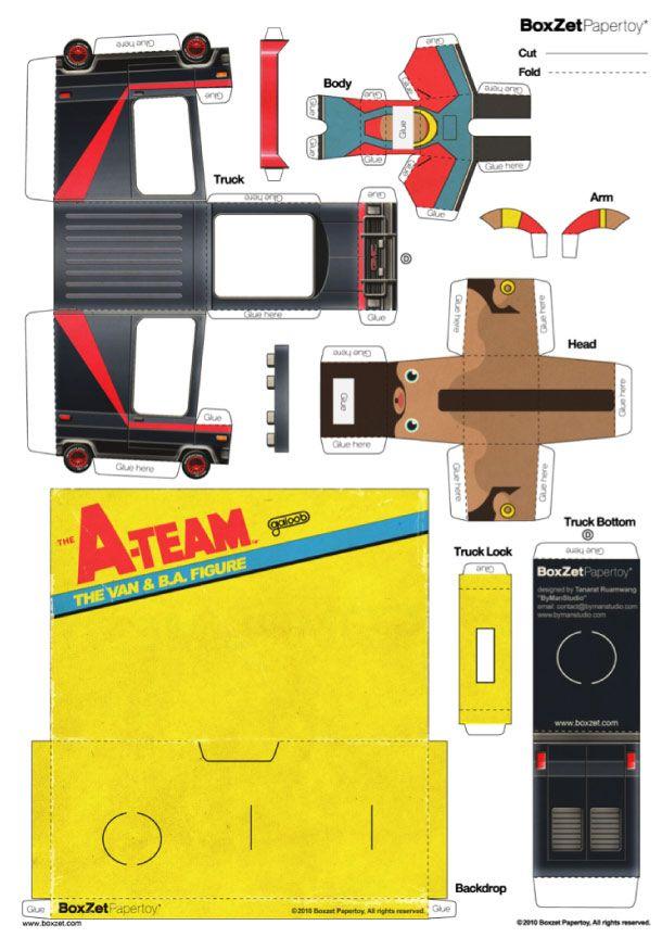 Le nouveau BoxZet est arrivé ! Encore une création exceptionnelle de ByManStudio, qui réunit le personnage, le véhicule (ici le fameux van de l'Agence tous risques) et la boîte de présentation. A télécharger d'urgence en lisant la suite… On avaitLire la suitePapercraft BoxZet A-Team