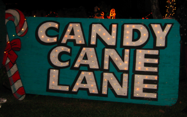 Candy Cane Lane Candy cane, Silver christmas, Candy