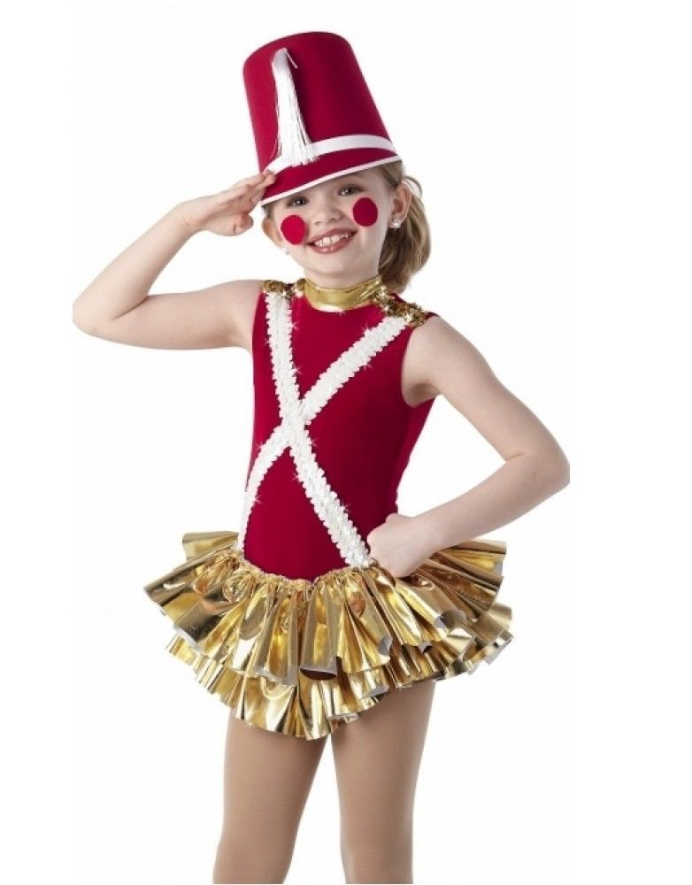 Tin Soldier Dance Costume Christmas Skirted Leotard No Hat