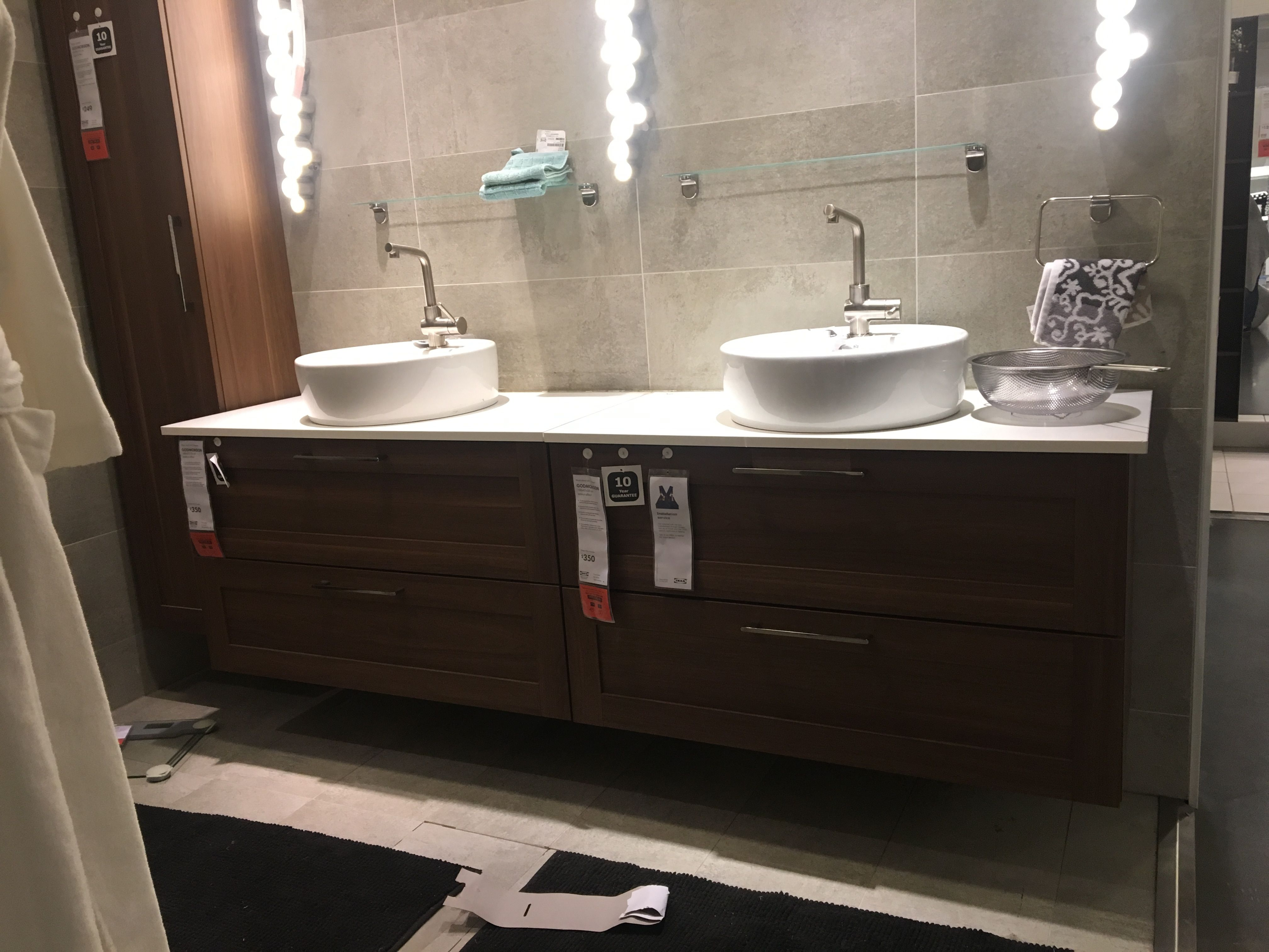 Ikea Two Units Instead On One Long With Double Bowl Deco Salle