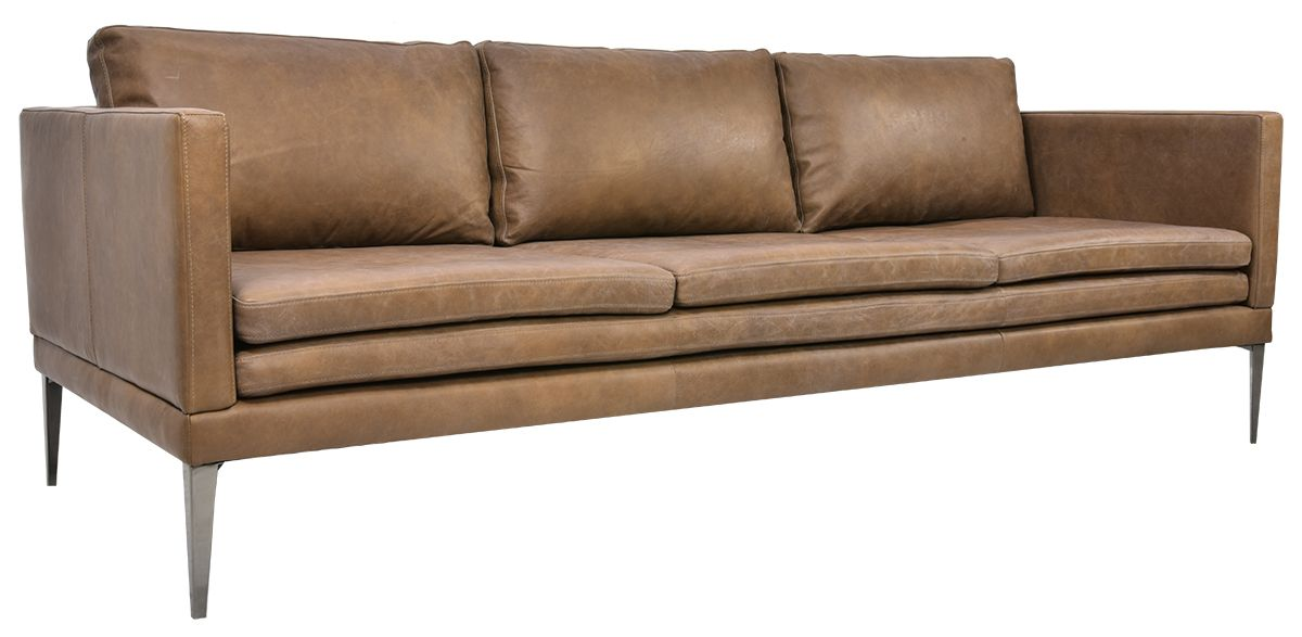 Portland 3 Seater Leather Sofa - Tan - Matt Blatt in 2019 ...