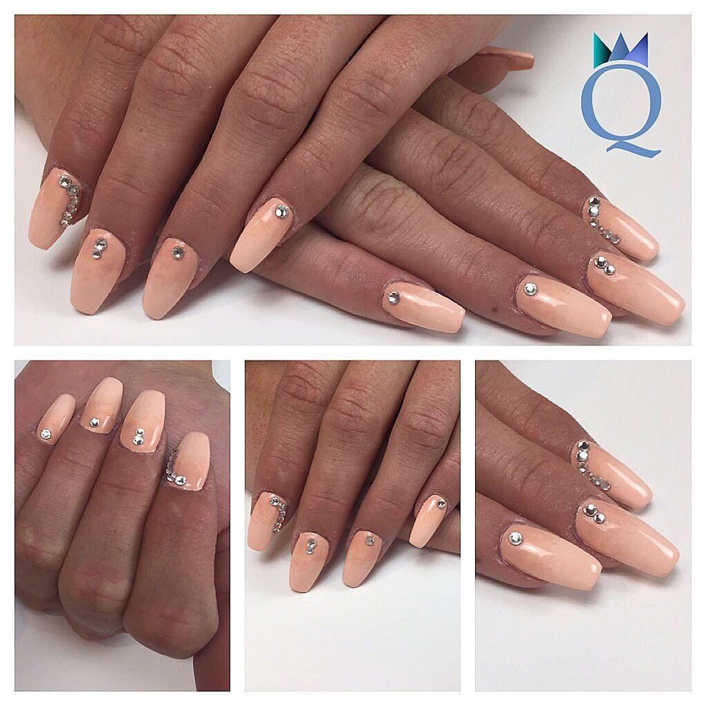 Inspirierend Nägel Bilder Beste Wahl #coffinnails #ballerina #shape #nails #gelnails #salmon #beige