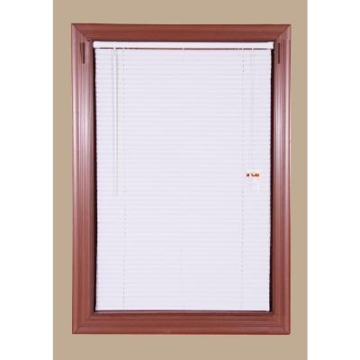 Yow White 1 In Light Filtering Vinyl Mini Blind 59 In W X 60 In L 4 Pack Vinyl Mini Blinds Blinds Vinyl Blinds