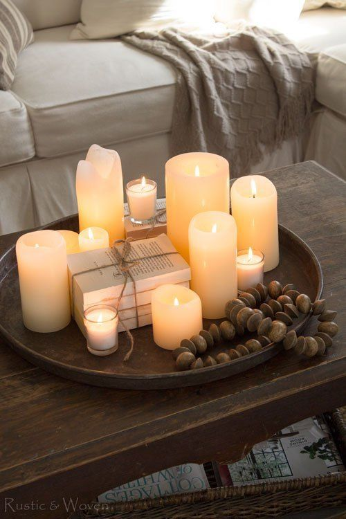 Note To Self Tray Candles Centerpiece Coffe Table Decor Coffee Table Centerpieces Decorating Coffee Tables