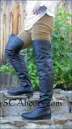 73bec467f32 Mens Big John Leather Thigh and Knee Boots (Discontinued) in 2019 ...