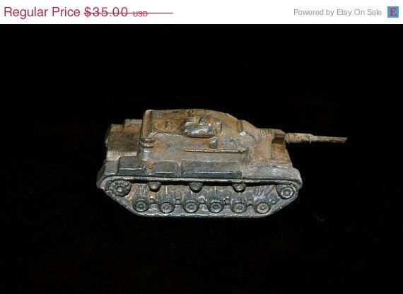 ON SALE Vietnam Era Metal Tank 2 Pounds Metal from by GladysGlover, $26.25