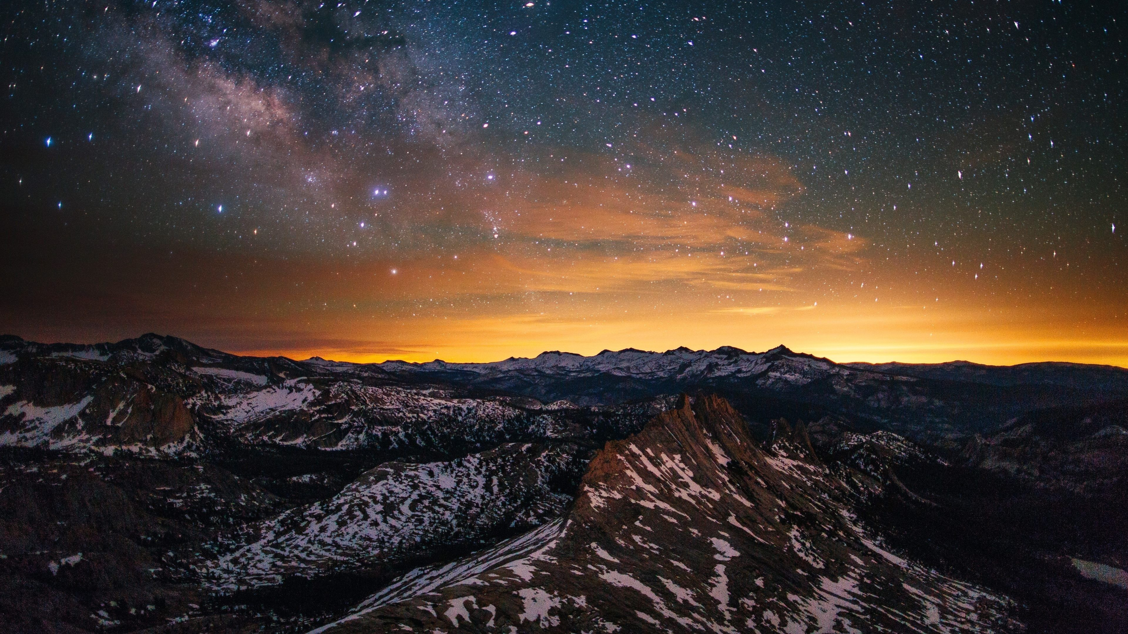 yosemite night scenery 4k ultra hd wallpaper ololoshenka