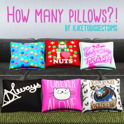 Pillows by iliketodissectsims
