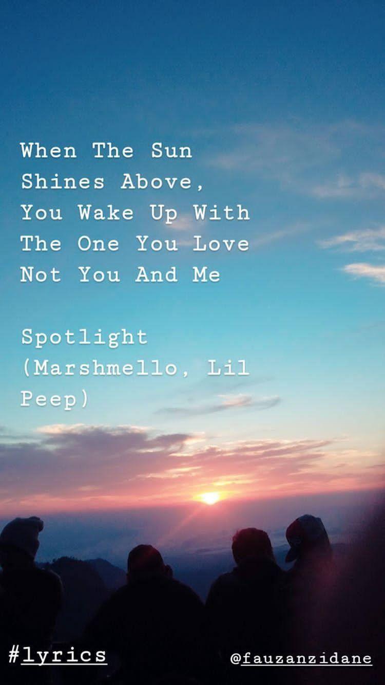 Spotlight - Marhsmello, Lil Peep   Lil peep lyrics, Song captions, Juno  movie quotes