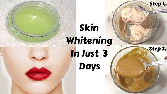 homemade bleaching cream for black skin
