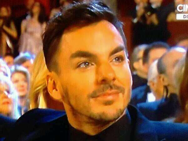 Shannon with tears in his eyes. So proud of those Leto boys. Oscars 2014