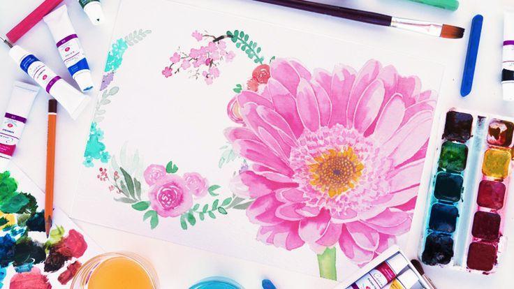 Aquarell Malen Lernen Blumen Und Bluten Mit Julia Fasshauer Malen