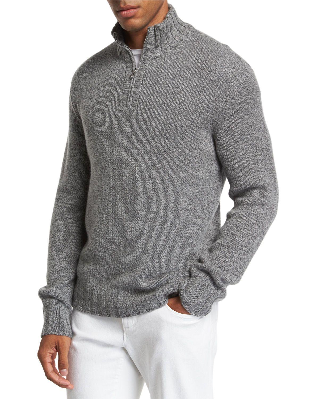 Loro Piana Men S Mezzocollo Eaglecrest Half Zip Sweater Loropiana Cloth [ 1500 x 1200 Pixel ]