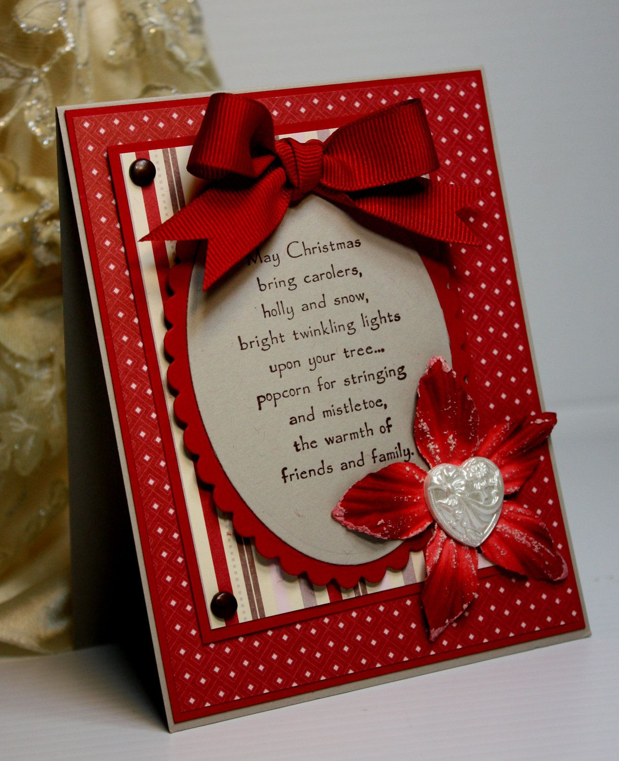 christmas card handmade greeting card card ooak