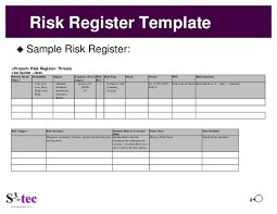 Image Result For Pmbok Risk Register Example  Pmbok Templates