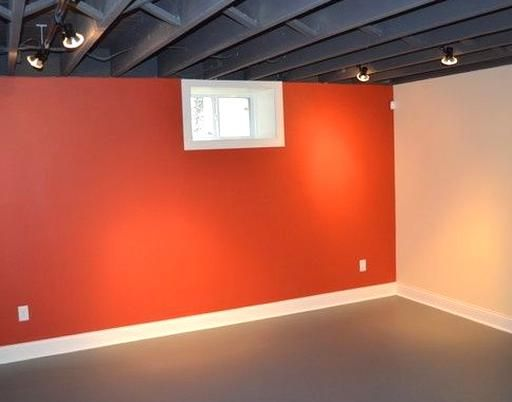 This Exposed Basement Ceiling Was Spray Painted Black Due To The Duct Work And Pipes To Create A Visua In 2020 Low Ceiling Basement Remodeling Basement Remodel Ceiling
