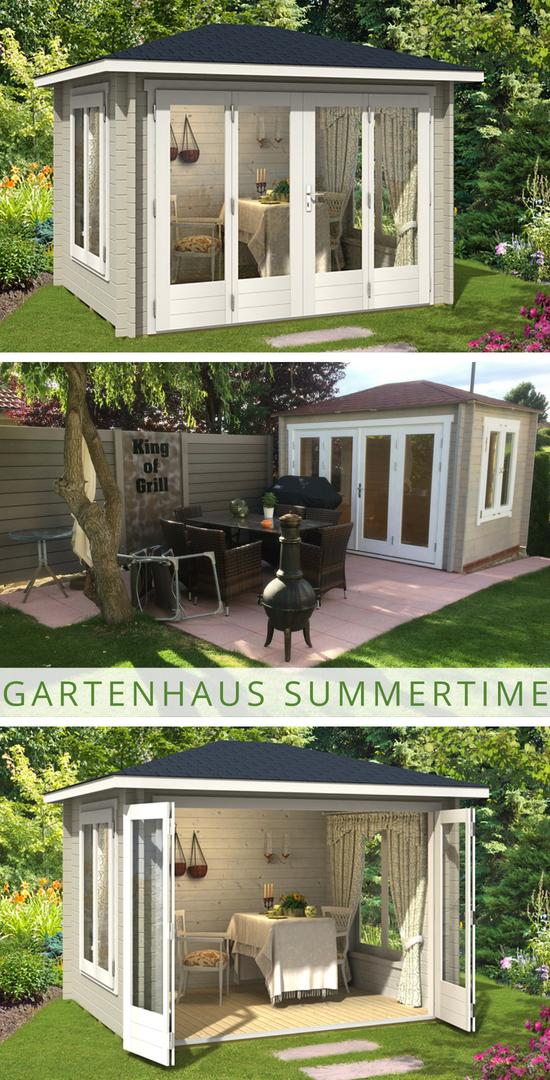 Gartenhaus Summertime 40 Mit Grosser Falttur Gartenhaus Schuppen Ideen Whirlpool Garten