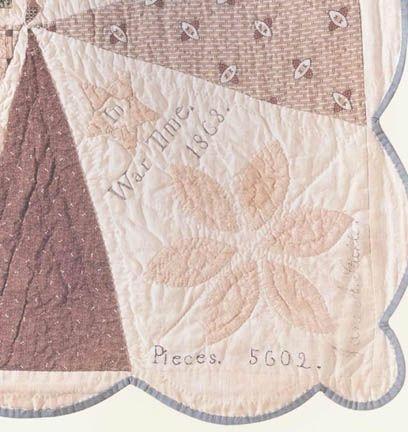 Corner detail of the original Jane Stickle Quilt. She signed it ... : jane stickle quilt - Adamdwight.com
