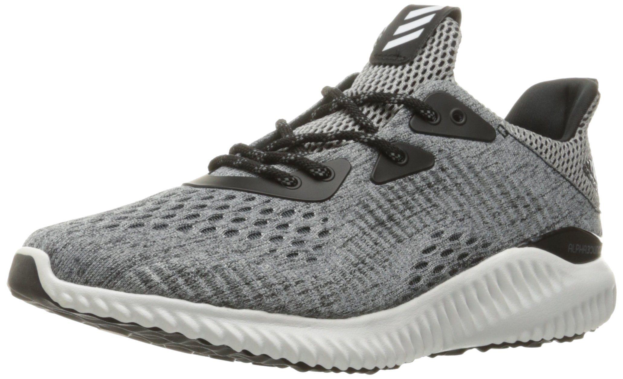low priced 6d65b b5aaa adidas Performance Women s Alphabounce EM W Running Shoe,  Black White Black, 7.5